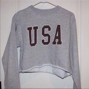 Brandy Melville USA Cropped sweatshirt